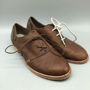 Ahnu leather suede oxford menswear inspired shoes